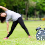 Morning  exercise and black clock