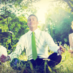 Business People Yoga Relaxation Wellbeing Concept